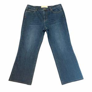 Soft Surroundings Jeans Straight Leg Cropped Dark